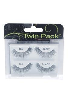 56526dd4e54 Amazon.com : Ardell Twin Pack Lashes - # 105 Black Eyelashes For Women :  Beauty