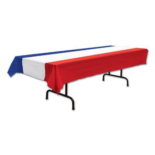 Patriotic Tablecover (red, white, blue) Party Accessory  (1 count) -
