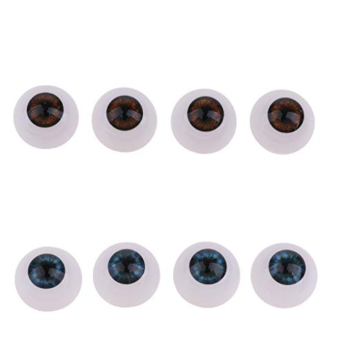 Flameer 8Pcs 24mm Baby Doll Hollow Eyeball Mask for Halloween Horror Props Costume Plastic (Diy Halloween Costumes For Dolls)