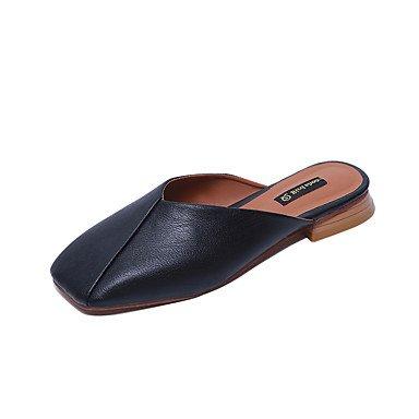 Zapatillas &Amp; Flip-Flops verano PU Confort Casual tal¨®n plano conjunto dividido Negro Gris verde claro beige US5.5 / EU36 / UK3.5 / CN35
