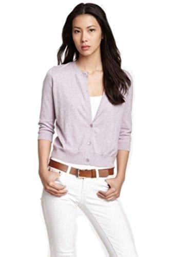 Eileen Fisher Organic Cotton Cashmere Cardigan M L MSRP $158.00 (L)