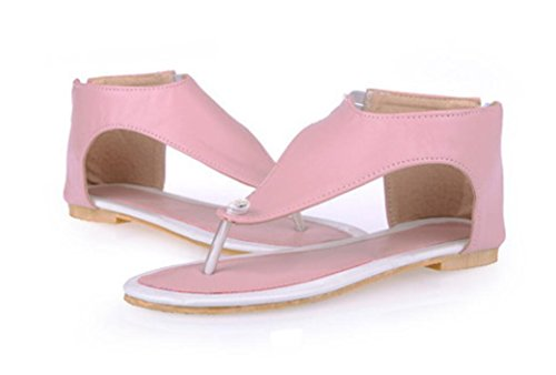 36 Beach Parte Sandalias Shopping 35 Xie Inferior Plano Comfortable Pink Humano Ocio Party Carácter Chuck Ladies Zipper Verano wZXXx74q
