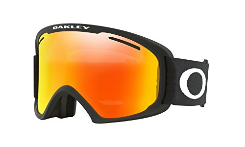 Oakley O Frame XL 2.0 Snow Goggles Matte Black with Fire Iridium - Ski Oakley Fire Goggles Iridium