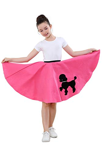 Skirts Costume For Little Girls with Musical Note printed Scarf Size 10-14 ()