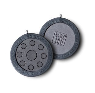 Nikken 1 PowerChip Medallion Charm - 1450, Black, Magnetic Therapy Far Infrared, Reduce Stress Fatigue Soreness, EMF Electromagnetic Frequency Protection Blocker, 900-1000 Gauss, Kenko by Nikken