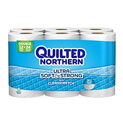Quilted Northern Ultra Soft and Strong Toilet Paper, Bath Tissue, 12 Double Rolls