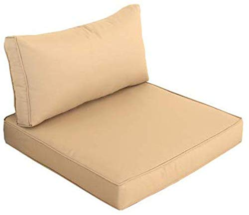 Outime Indoor/Outdoor 2pcs Khaki Cushions Set,Rplacement Cushions for Patio Furniture