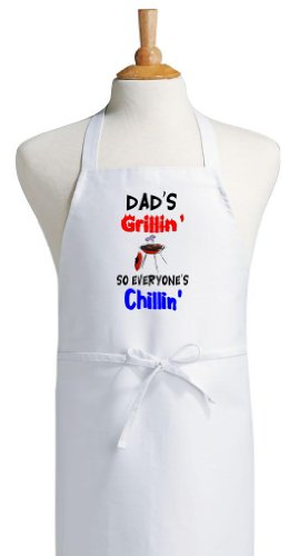 Dad's Grillin' BBQ Apron - Grillers Father's Day Gift