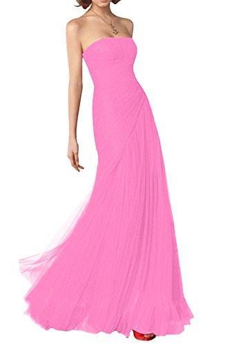 Glamour Rosa Marie Tuell Brautjungfernkleider Abendkleider Traegerlos Silber aus Dunkel Partykleider Braut La Neu xfEd6w7w