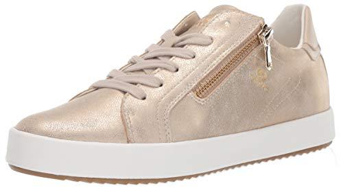 - Geox Women's BLOMIEE 10 Fashion Sneaker with Zipper, Brown/Beige 36 Medium EU (6 US)