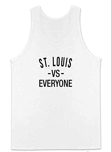 St Louis vs Everyone Sports Fan White L Mens Tank Top