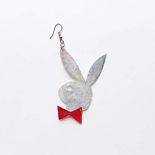 Play Boy Earring - Big unique earring - Playboy drops earring - Trending jewelry - Rockabilly Jewelry - Play Boy jewelry