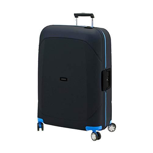 スーツケース lサイズ 93l ブラック×ブルー キャリーケース キャリーバッグ ビジネス 出張 旅行 ハードスーツケース キャビンケース メンズ レディース ヨーロッパブランド DAVIDTS/デイビット SK-Lineシリーズ ブラック×ブルー B07JFTPNV4