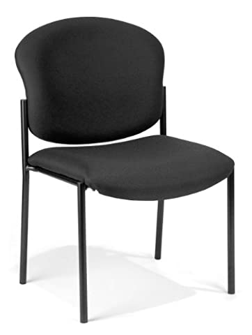 OFM 408-805 Armless Stack Chair, Black - Ofm Armless Stacking Chair