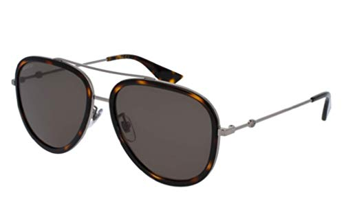 Gucci GG0062S Aviator Sunglasses For Men For Women+FREE Complimentary Eyewear Care Kit