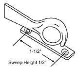 STB Sweep Lock, Bronze Casting, White Bronze, 1-1/2'' Screw Holes