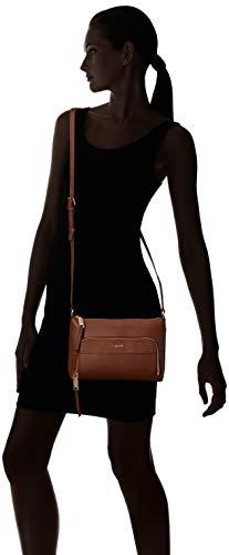 Top Lily Crossbody Zip Klein Calvin Leather Walnut Saffiano nOPFAaq