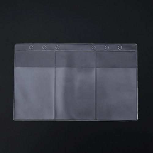 Yofo 6Löcher A5A6transparent PVC Nachfüller Binder Pocket Business Card Organizer Holder Storage Tasche für A5A6Ringbuch Ordner, A6