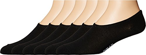 Converse Men's 6-Pack Made for Chucks Flat Knit Basic Black Sock