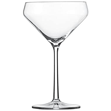 Schott Zwiesel Tritan Crystal Glass Pure Stemware Collection Martini Cocktail Glass, Set of 6