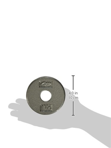 CAP Barbell Standard 1 Inch Cast Iron Weight Plate, Single