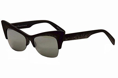 (Italia Independent Women's I-Plastik 0908 071 Nero Cat Eye Sunglasses 59mm)