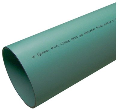 Genova Pipe 40031 3-inch x 10-foot Perforated Sewer Pipe