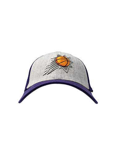 New Era Phoenix Suns Fitted Hat 39Thirty NBA Basketball Curve Brim Baseball Cap (Medium/Large, Grey)