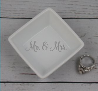 ring dish mr mrs ring dish wedding ring holder gift - Wedding Ring Dish