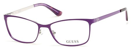 Guess Women's Eyeglasses GU2516 GU/2516 078 Lilac Full Rim Optical Frame 53mm