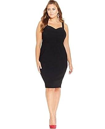 Amazon.com: Trixxi Plus Size Sweetheart Bodycon Dress Size ...
