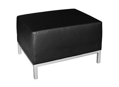 SedLivo Modular Office Sofa Ottoman Black Leather by SedLivo