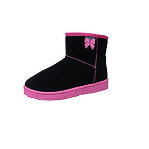 Transer® Damen Stiefel & Stiefeletten Herbst/Winter Warm Schuh Baumwolltuch+Gummi (Bitte achten Sie auf die Größentabelle. Bitte eine Nummer größer bestellen. Vielen Dank!) rosafarben