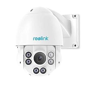 Reolink PTZ 5MP Caméra PoE avec Pan Tilt Zoom Optique 4X Caméra IP Extérieur Dôme avec Fente pour Micro SD Carte FTP…