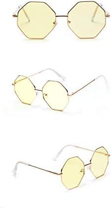 ASLD Lunettes de soleil femmes Polygone lunettes de soleil femmes rétro métal cadre rose lentille lunettes de soleil femmes Vintage miroir carré lunettes de soleil hommes