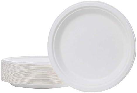 Biodeck - Plato redondo biodegradable compuesto y biodegradable de ...