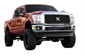 T-Rex Grilles 6715461 Large Mesh Steel Black Finish XMetal Grille Insert for Ford Super - Heavy Metal Mesh Grille