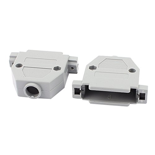 uxcell Plastic D-Sub DB25 Connector Hood Cover Housing Shell 8pcs Gray (Db25 Hood)