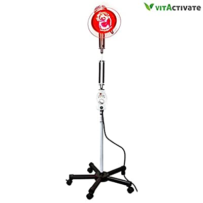 Infrared Heating Lamp - FDA Registered for Muscle Pain Therapy Treatment - VITA Activate Heat Lamp | Joint, Back Muscle Pain Relief
