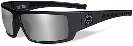 Smoke Grey Silver Flash HARLEY-DAVIDSON WileyX Nitro Sonnenbrille Schaumstoffeinsatz Versch.Ausf/ührungen