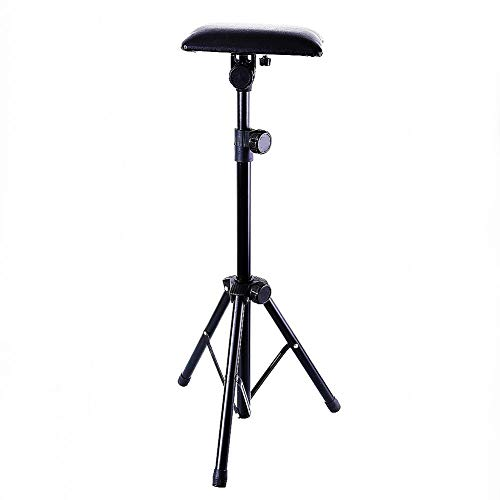 Tattoo Armrest,New Star Tattoo Foldable Sponge Pad Arm Leg Rest Stand Tripod with Adjustable Height for Tattoo Supplies PVC Leather Stands Studio Chair Stand