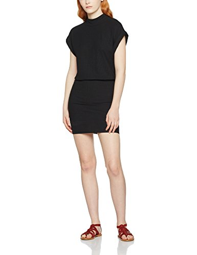 SELECTED FEMME Sfrasti Ss Dress, Vestido para Mujer Negro (Black)