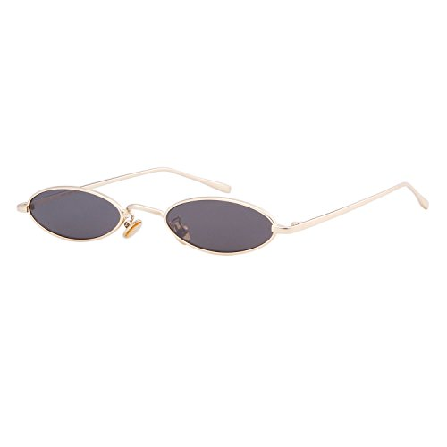 Steampunk Oval Sunglasses For Unisex Metal Frame Chic Clear Small Lens - Face Long For Sunglasses A