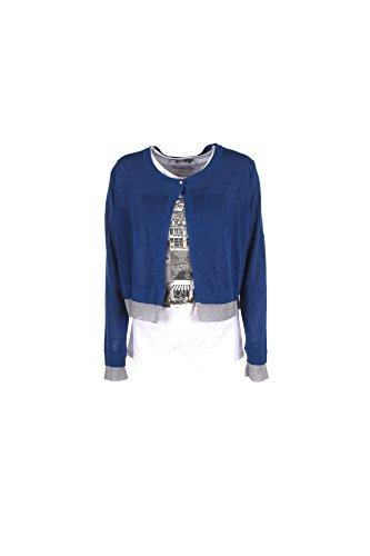 Cardigan Donna Kocca XL Blu Borion Primavera Estate 2017