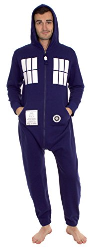 Doctor Who Adulted Hooded One-Piece Pajama