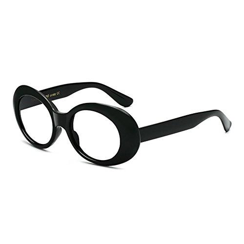 mujeres Clout con retro Oval Sunglasses grueso marco Gafas Hombres Goggles Juleya C4 para vHdxqv