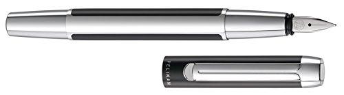 Pelikan Pura P40 995282 Fountain Pen Nib Width F Black/Silver