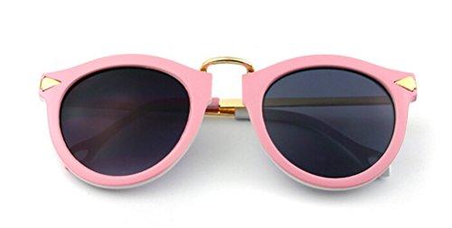 GAMT Women Sunglasses Retro Sunnies Glasses Arrow Metal Gafas Pink Frame - Cheetah Rainbow Sunglasses