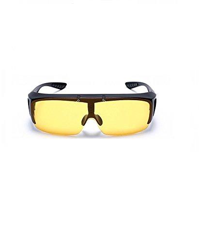 Ciclismo Libre y de 5x4 14 5x12 Aire Amarillo Deportes Y 5cm MINISU Amarillo Sol y Negro policarbonato Negro Gafas para polarizadas al XnvSq