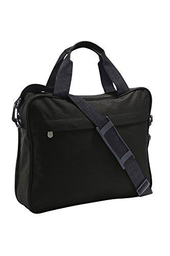 Bolsa de Hombro para ordenador portátil, Laptop Briefcase, Maletín con asa de transporte en frenchnavy negro